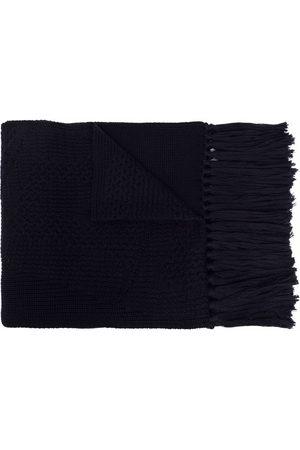VERSACE Mixed-knit virgin wool scarf