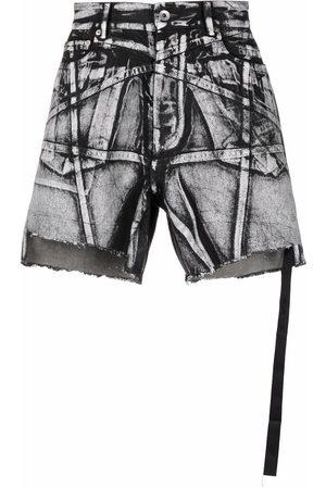 Rick Owens Men Shorts - Trucker cut-off shorts