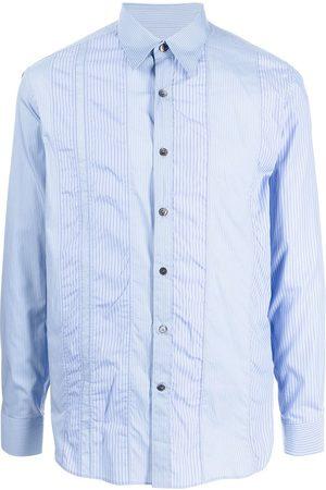 Salvatore Ferragamo Vertical-stripe long-sleeve shirt
