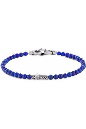 David Yurman Men Bracelets - 4mm cross station bead bracelet