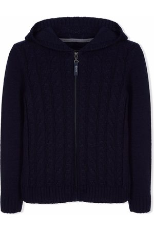 Lapin House Boys Cardigans - Hooded cable-knit cardigan