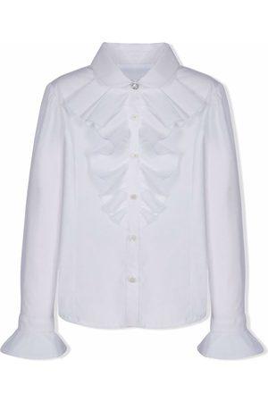 Lapin House Ruffle-detail long-sleeved shirt