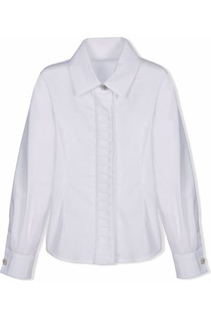 Lapin House Girls Long sleeves - Crystal-button long-sleeved shirt