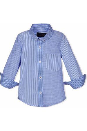 Lapin House Striped open-cuff shirt