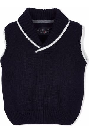 Lapin House Boys Tank Tops - Knitted shawl-collar vest