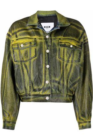 Msgm Distressed bomber jacket