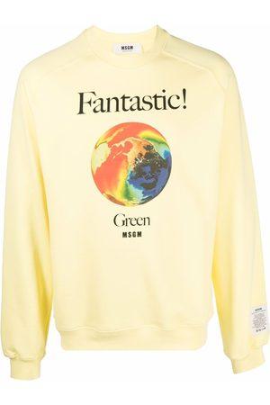 Msgm Men Sweatshirts - Graphic-print organic-cotton sweatshirt