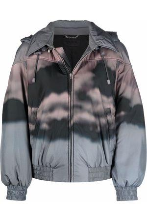 Alberta Ferretti Women Bomber Jackets - Cloud-print bomber jacket - Grey