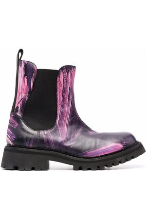 Moschino Abstract-print Chelsea boots