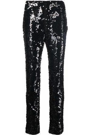 Alberta Ferretti Sequinned straight-leg trousers