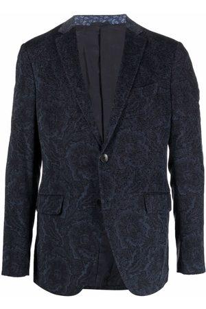 Etro Men Blazers - Floral-jacquard blazer