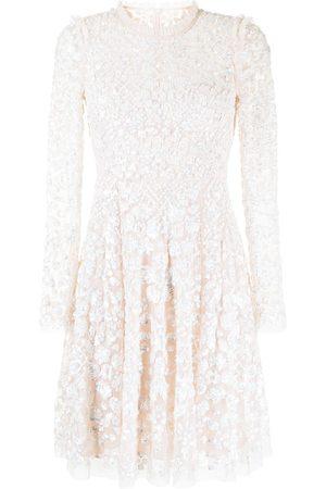 Needle & Thread Aurelia long-sleeve sequin-embellished mini dress