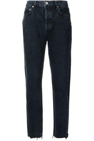 AGOLDE Women Slim - Mid-rise tapered-leg slim jeans