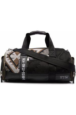 Diesel Panelled-knit duffle bag