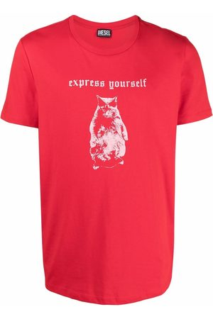 Diesel Men Short Sleeve - Slogan-print short-sleeved T-shirt