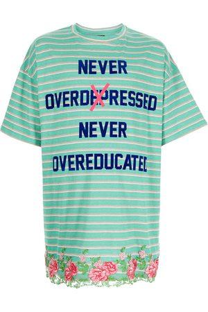 COOL T.M Men T-shirts - Slogan-print striped T-shirt