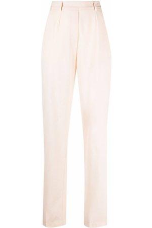 FORTE FORTE Women Straight Leg Pants - High rise straight leg trousers - Neutrals
