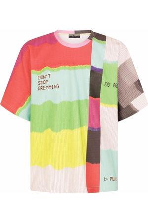 Dolce & Gabbana Men T-shirts - Colour-block print T-shirt - Multicolour