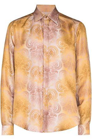 Edward Crutchley Men Long sleeves - Paisley print long-sleeve shirt