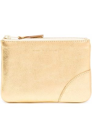 Comme des Garçons Small logo-embossed leather pouch