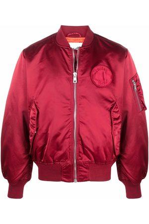 Etudes Men Bomber Jackets - Horizon logo patch bomber jacket