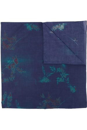Paul Smith Floral-print lightweight knitted scarf
