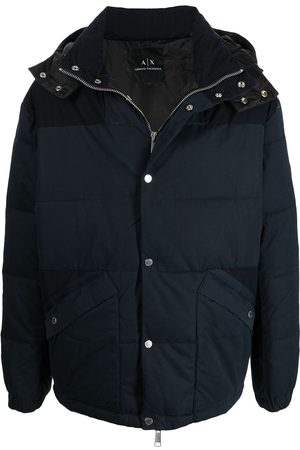 Armani Men Puffer Jackets - Hoodded puffer jacket