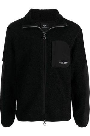 Armani Men Fleece Jackets - Contrast-trimmed fleece jacket