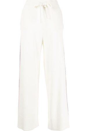 N.PEAL Women Straight Leg Pants - Side stripe detail trousers