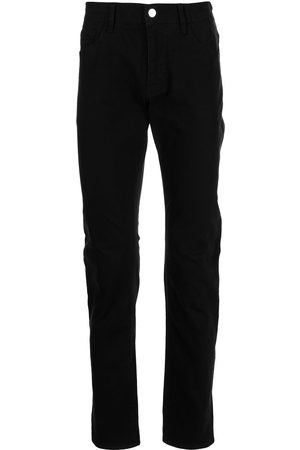 Armani Men Slim - Logo-patch slim-fit jeans