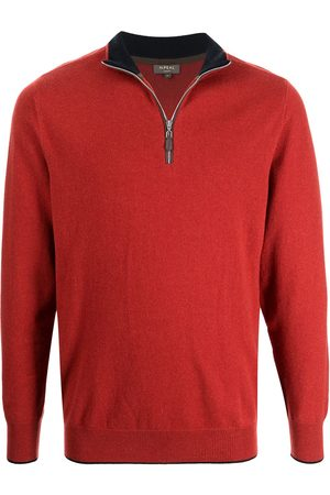N.PEAL Men Sweatshirts - Half-zip organic cashmere jumper