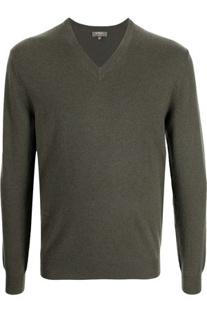 N.PEAL Men Sweatshirts - The Burlington V-neck jumper
