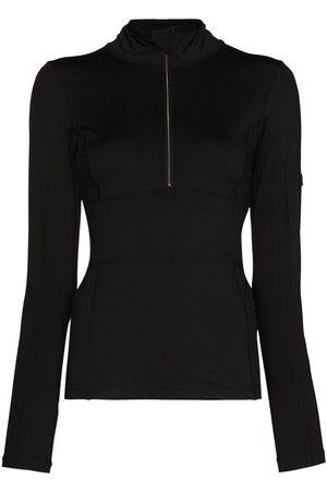 JET SET Women High Necks - Logo-patch high-neck ski top