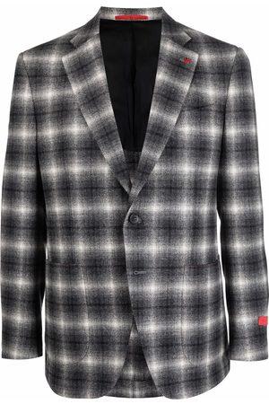 ISAIA Men Blazers - Checked single-breasted blazer - Grey