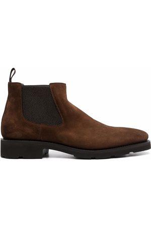 santoni Suede Chelsea boots