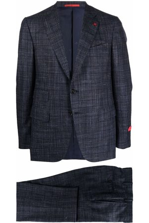 ISAIA Men Suits - Checked single-breasted suit