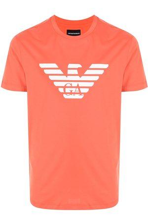 Emporio Armani Men T-shirts - Logo-print cotton T-shirt