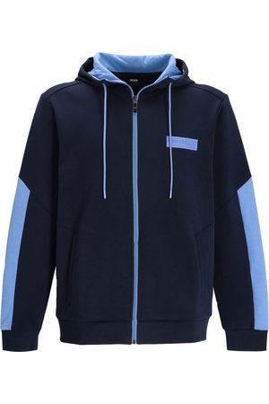 HUGO BOSS Men Hoodies - Logo-patch zip-up hoodie
