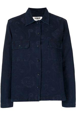 YMC Women Denim - Floral jacquard denim shirt