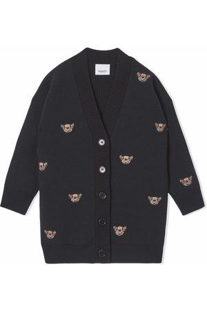 Burberry Thomas Bear motif cardi-coat
