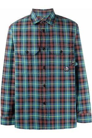 Diesel Men Shirts - Flap pocket checked shirt