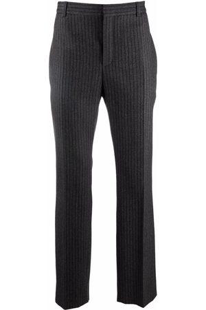Saint Laurent Men Formal Pants - Striped tailored trousers - Grey