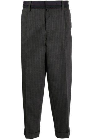 Kolor Cropped-leg chinos - Grey