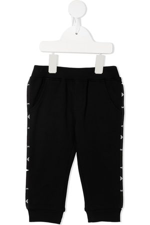Emporio Armani Side logo-tape track pants