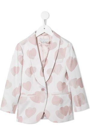 Stella McCartney Single-breasted heart-print blazer