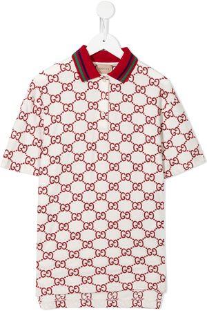 Gucci Girls Casual Dresses - Monogram-pattern polo-style dress