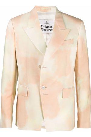 Vivienne Westwood Sky-print single-breasted blazer - Neutrals