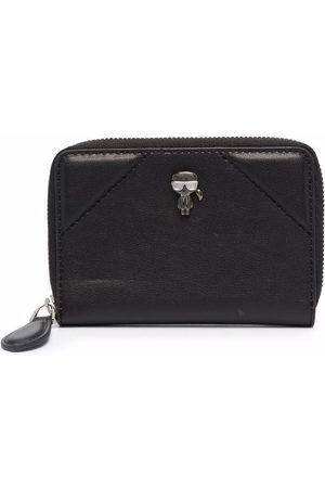 Karl Lagerfeld K/IKONIK all-around zip wallet