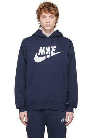 Nike Men Sports Hoodies - Navy Sportswear Club Logo Hoodie
