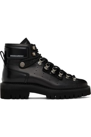 Dsquared2 Men Outdoor Shoes - Black Tank Hiking Boots